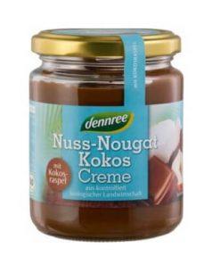 nugat kokos Nugatovo kokosovy krem Dennree liskovy orisek pomazanka orechove maslo nugatova nugatove