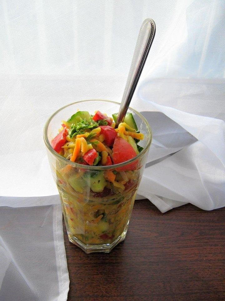 Slunečný dýňový salát