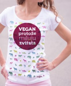 triko vegan protoze miluju zvirata