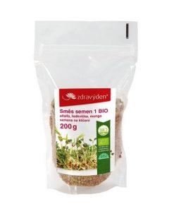 smes semen na kliceni klicky bio alfalfa redkvicka mungo zdravy den kliceni