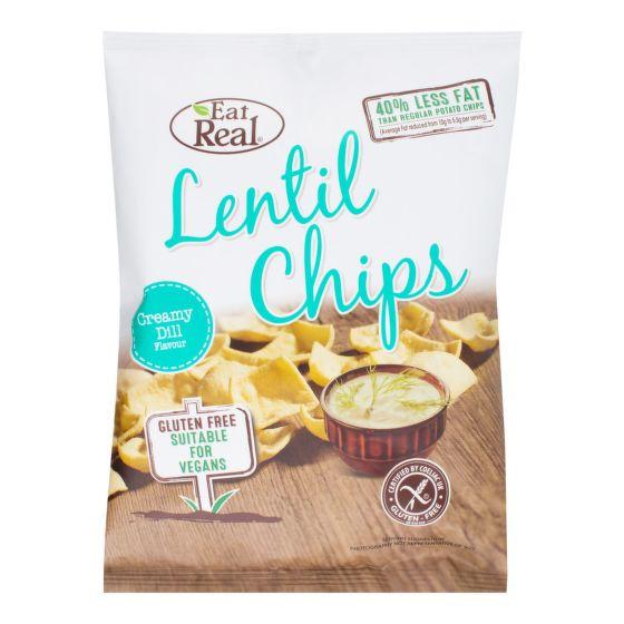 Chipsy čočkové příchuť kopr