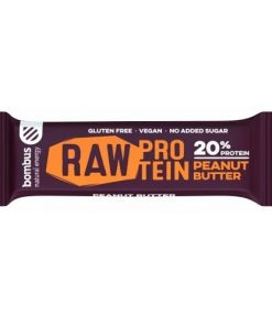 bombus raw protein peanut butter proteinova tycinka veganobchod veganfelicity dmhermes vegan felicity fitness vitarian energie