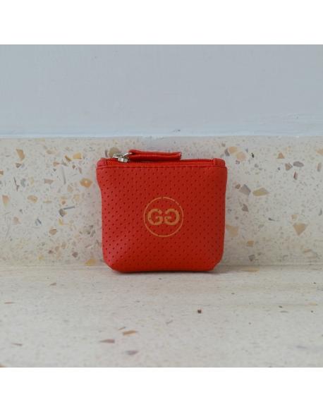 Peněženka Malá Červená Perforace Gado Gado