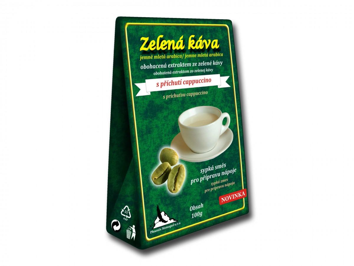 Zelená káva Cappuccino