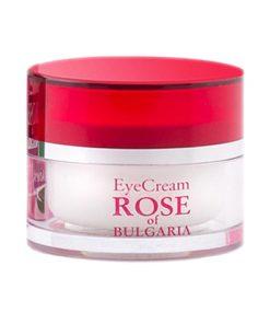 ocni krem s ruzovou vodou rose of bulgaria krem na oci ruze ruzovy ruzova voda bulharsko kvetinovy kvetinova oci ocni okoli vrasky