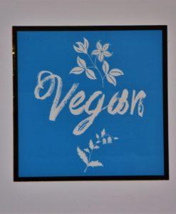 Vegan samolepka