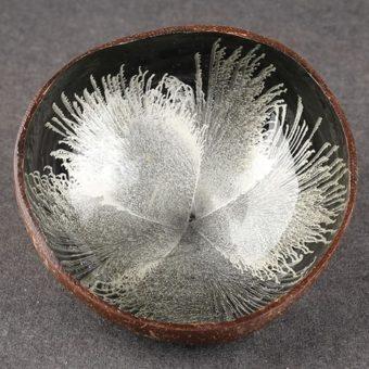 Kokosová miska Stříbrná