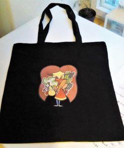 plátěná taška tote bag panenka vegan felicity