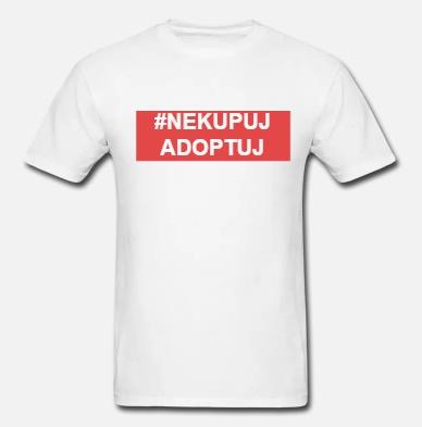 Pánské triko #nekupujadoptuj