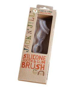 detsky kartacek na zuby a dasne silikonovy kartacek jack n jill pro nejmensi cisteni zubu zoubku