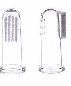 na prst zubni kartacek silikonovy silikon s bezpecnostnim stitem bezpecnostni jack n jill pro nejmensi na zuby