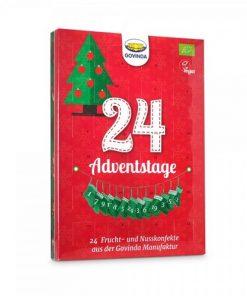 adventni kalendar ovocny bio govinda advent vegan cokolada jezisek mikulas santa claus