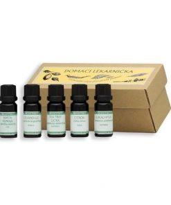 etericke oleje olej etericky sada prirodni lekarna lekarnicka nobilis tilia aromaterapie tea tree eukalyptus levandule citron mata
