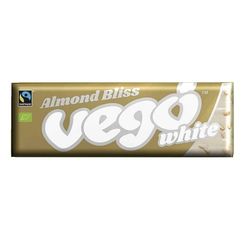 vego cokolada bila s mandlemi bio vegan fair trade fairtrade white vego mandle vegan organic bez lepku bezlepkova bezlepkove no palm bez palmoveho oleje eco friendly eko veganobchod obchod veganfelicity felicity