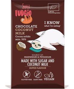 cokoláda kokosova bio super fudgio bez lepku bezlepkove bezlepkova superfudgio kokos cokoladova vegan cokolada s jahodami kokosovy cukr vegan obchod veganobchod vegan felicity veganfelicity kokos kokosove mleko veganska