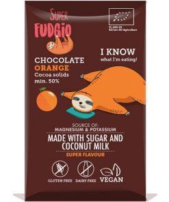 cokoláda pomerancova bio super fudgio bez lepku bezlepkove bezlepkova superfudgio pomeranč s pomerančem cokoladova vegan cokolada s jahodami kokosovy cukr vegan obchod veganobchod vegan felicity veganfelicity kokos kokosove mleko veganska