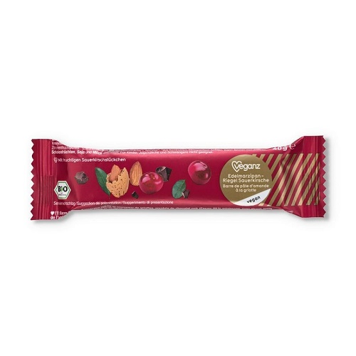 marcipanova tycinka s visnemi bio veganz visen visne marcipan cokolada horka horke cokolade biokvalita vegan obchod veganobchod veganfelicity vegan felicity mikulas vanoce sladkosti bez lepku bezlepkova bezlepkove