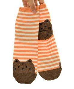 damske ponozky kocicky oranzove kocky kocka kocicka oranzova