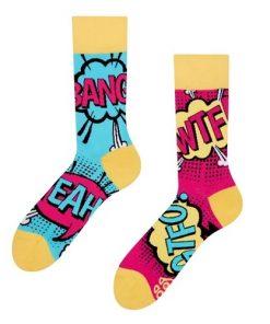 damske ponozky komiks vel velikost 35 - 38 ponozka good mood vesele ponozky socks by dedoles comics
