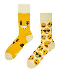 damske ponozky smajlik vel velikost 35 - 38 ponozka good mood vesele ponozky socks by dedoles smileys