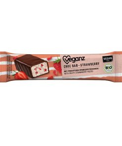 tycinka cokoladova s jahodami bio veganz biokvalita cokolada jahoda jahodova vegan obchod veganobchod vegan felicity veganfelicity