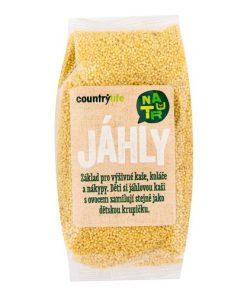 Country Life Jáhly 500 g vegan bez lepku bezlepkova Jáhly vznikají z prosa odstraněním semenné slupky z obilky.