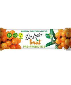 Dr.Light Fruit Tyčinka Rakytník PRE + PROBIOTIKA ovocna tycinka bezlepkova s rakytnikem a probiotiky tyčinky