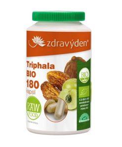 Zdravý Den Triphala Prášek BIO veganský prášek z amalaki, bibhitaki a haritaki.