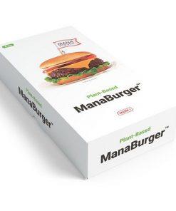 Mana Burger™ Rostlinný Burger první nutričně kompletní rostlinný burger na světě, který vypadá, chutná a texturou uspokojuje stejně jako čerstvé hovězí maso.