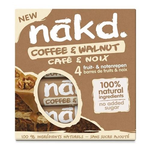 Nakd Tyčinky Coffee & Walnut Multipack káva vlašské ořechy kafe