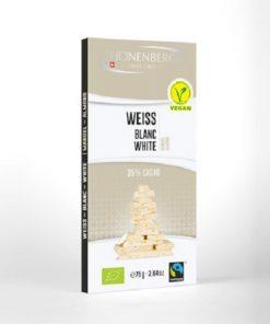 Schönenberger Čokoláda Bílá s Mandlemi BIO vegan veganska mandlova švýcarská schonenberger