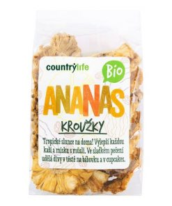 Country Life Ananas Kroužky Sušené BIO 100 g ovoce countrylife