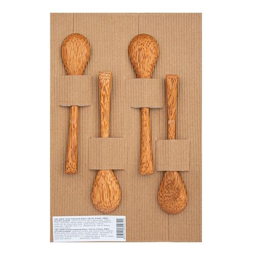 Hedsor Lžičky Kokosové Dřevo 16 cm 4 ks kokos
