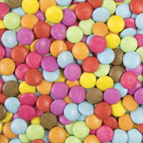 Clarana Lentilky Čokoládové Barevné veganske lentilky bonbony draze