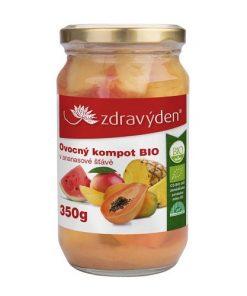 Zdravý Den Kompot Ovocný BIO ananas mango meloun papája