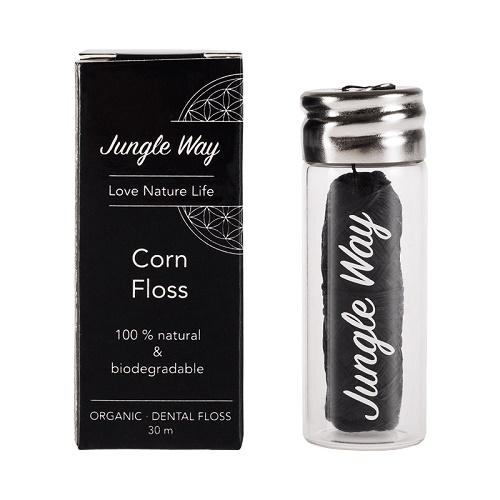 Jungle Way Zubní Nit Kukuřičné Vlákno + Skleněné Pouzdro