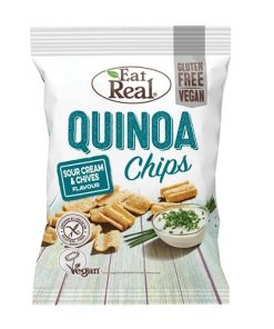 Eat Real Chipsy Quinoa Smetana Pažitka 80 g